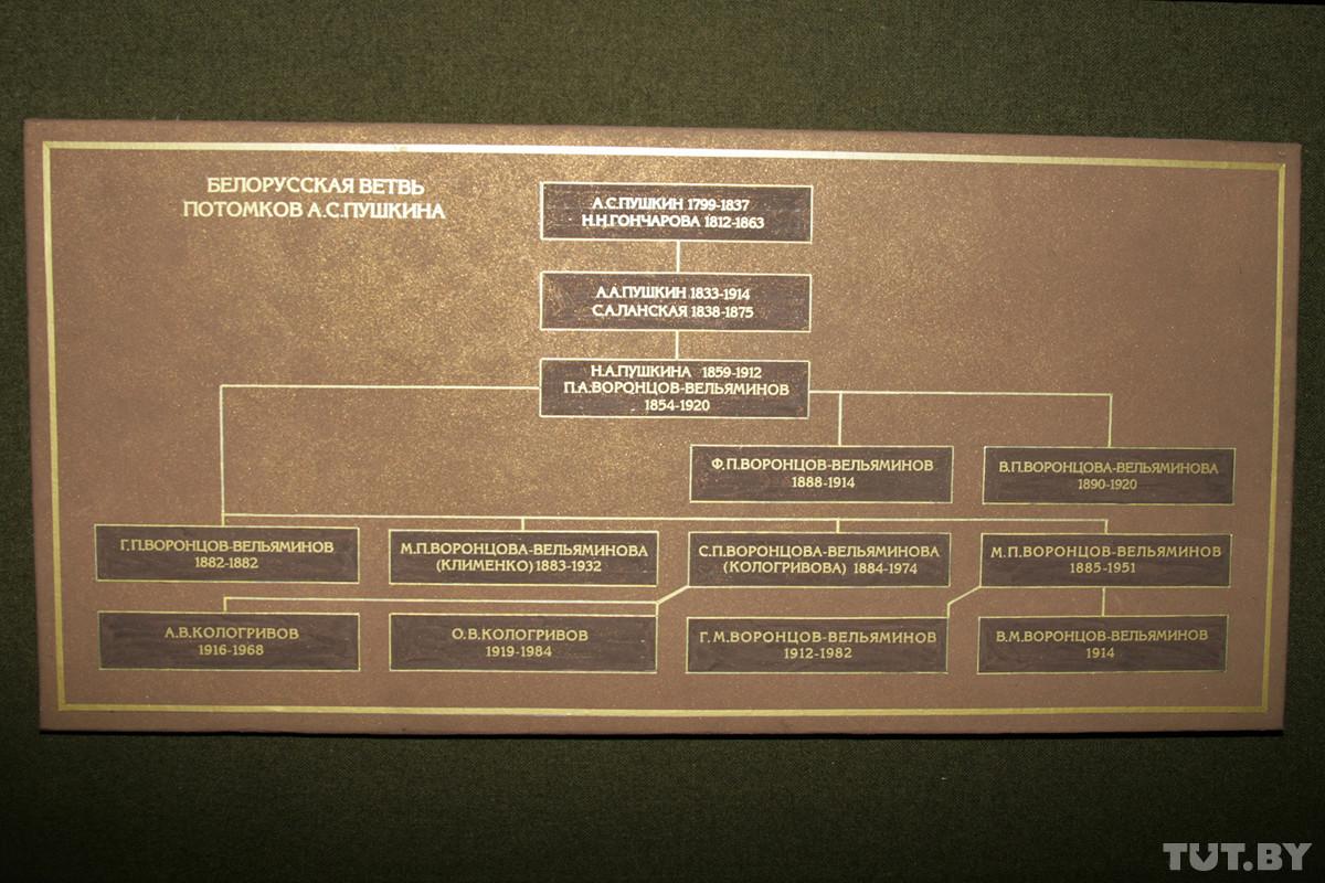 Белорусскими наследниками поэта являются семьи Воронцовых-Вельяминовых, Клименко и Кологривовых.