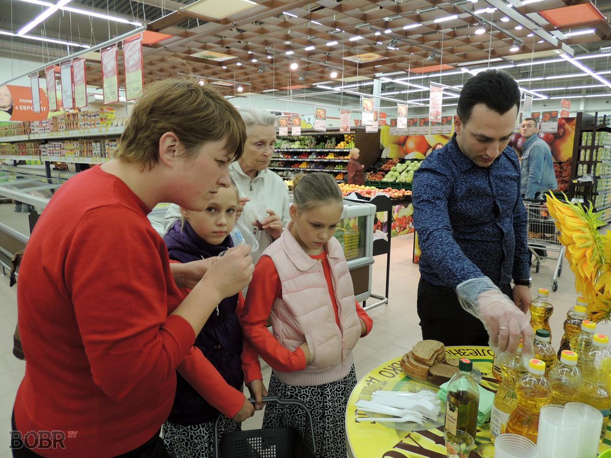 Дегустация продукции «Бобруйского завода растительных масел»