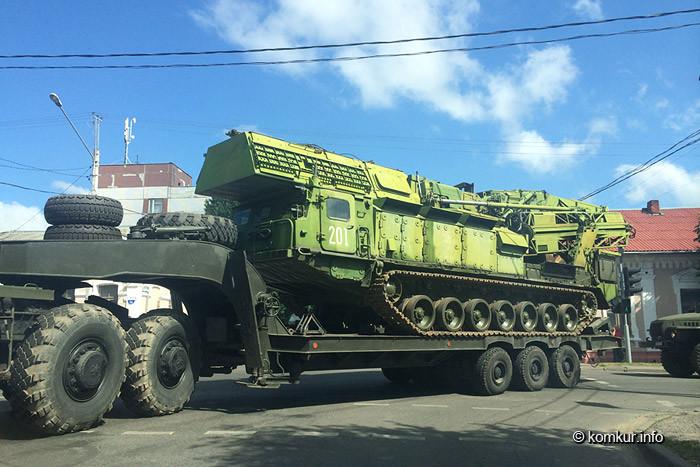 Военная техника на улицах Бобруйска