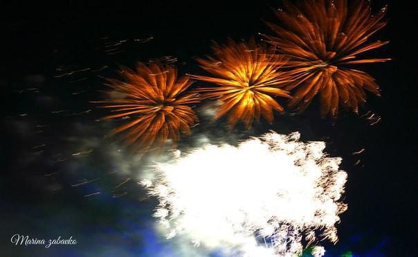 Лазерное шоу и праздничный фейерверк в Бобруйске