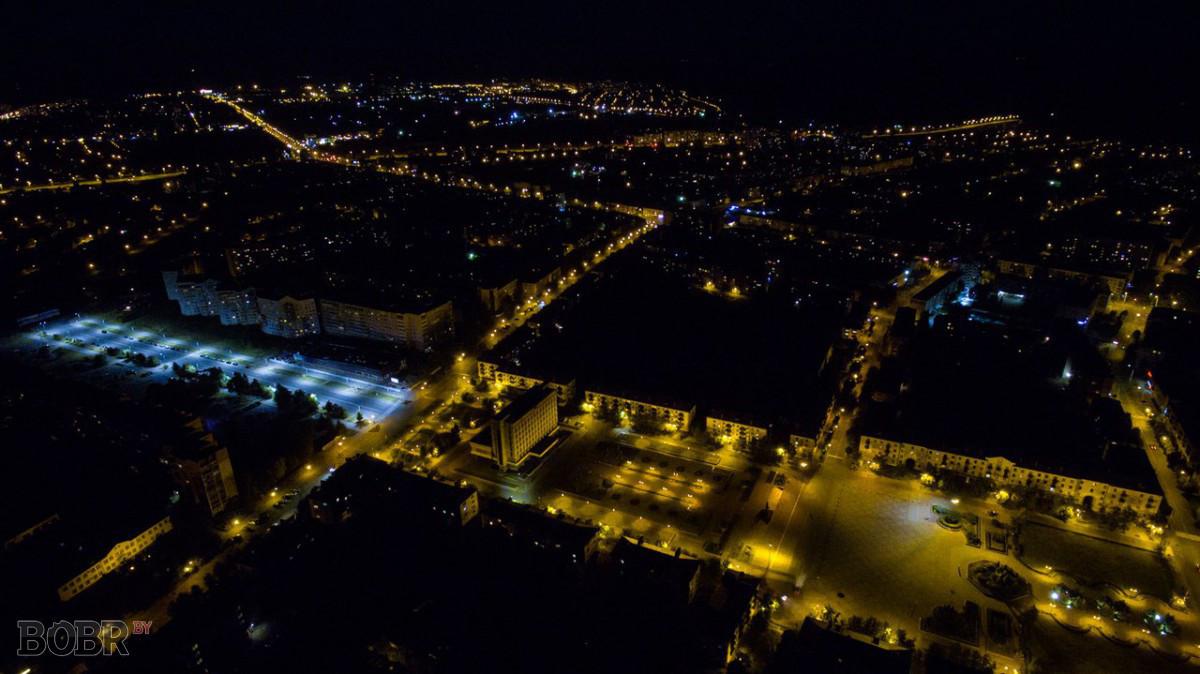 Вид ночного Бобруйска
