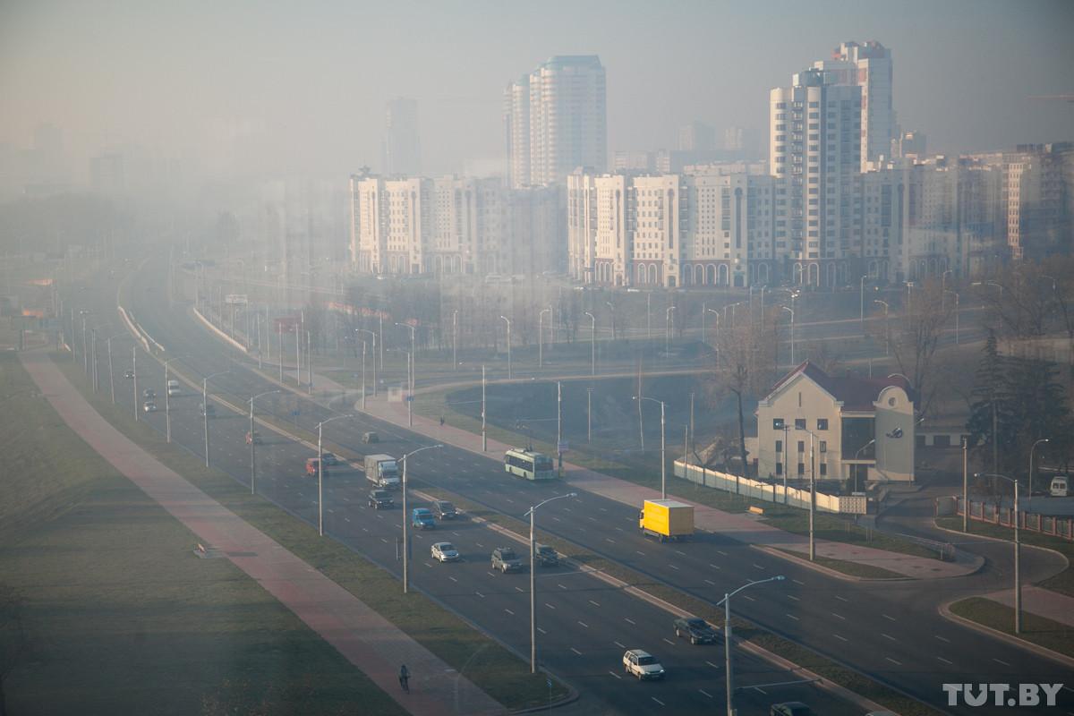 В Минске смог и запах гари