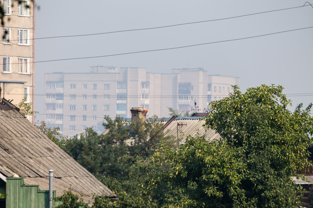 Бобруйск. Вид на дом на перекрестке Крылова и Гоголя. 02.09.2015 10:43