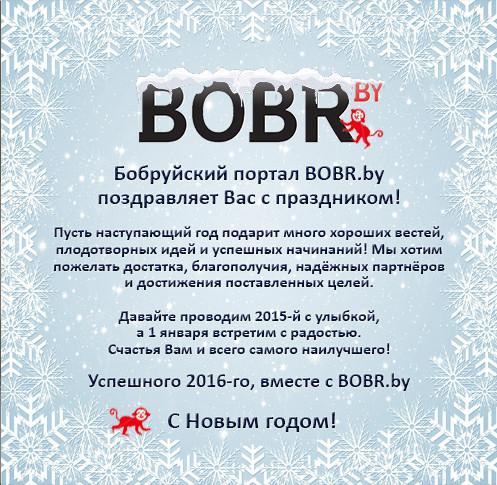 Сотрудники портала BOBR.by присоединяются к поздравлениям и желают только лучшего в Новом 2016 году!