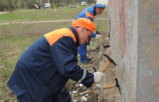 «Трудовой десант» на славу поработал в Первомайском районе Бобруйска