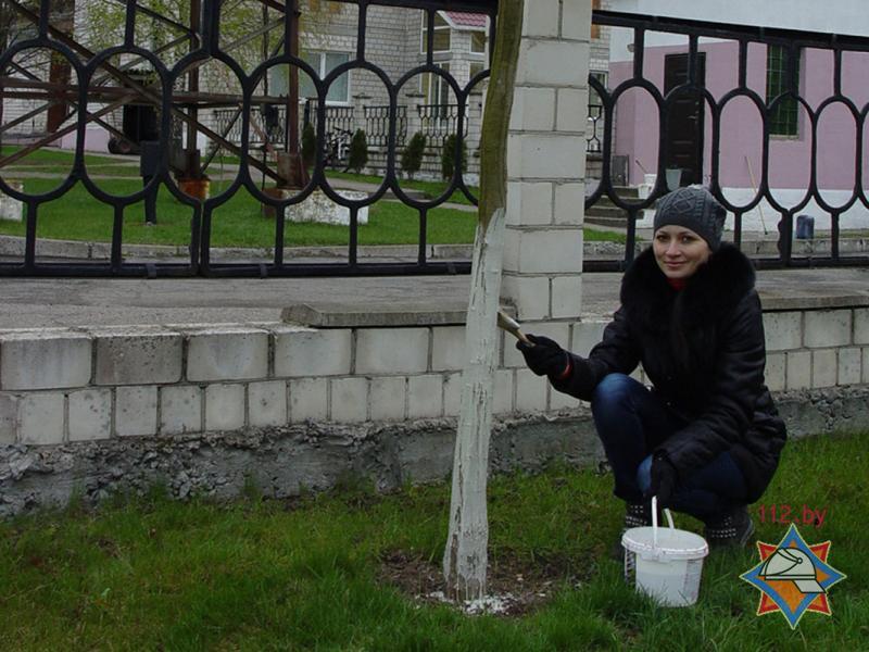 Субботник в Бобруйском горрайотделе по ЧС