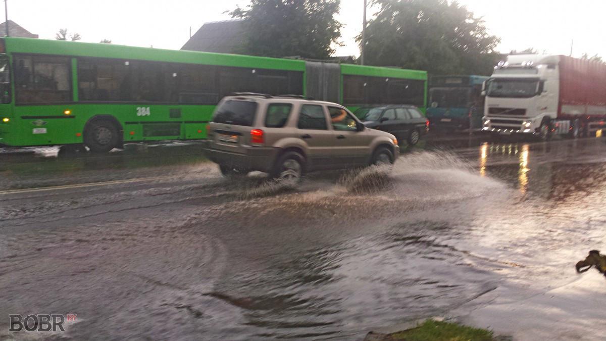 Наводнение в Бобруйске!