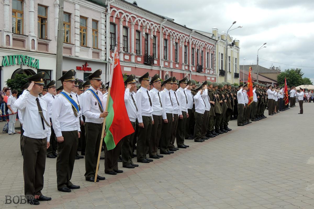 Бобруйчане отмечают 72-ю годовщину  освобождения  города от  немецко-фашистских захватчиков