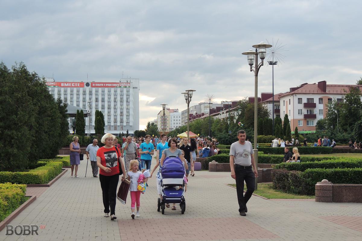 На площади Ленина состоялся праздничный концерт «Любимый город Бобруйск»