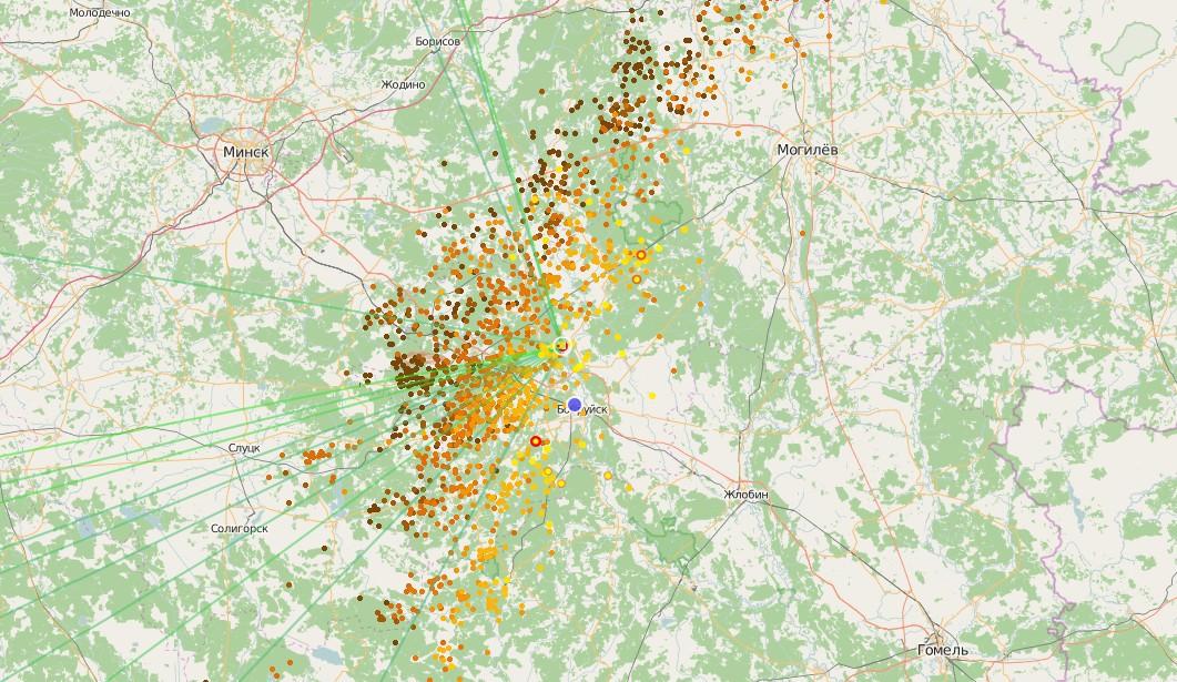 На Бобруйск идёт буря