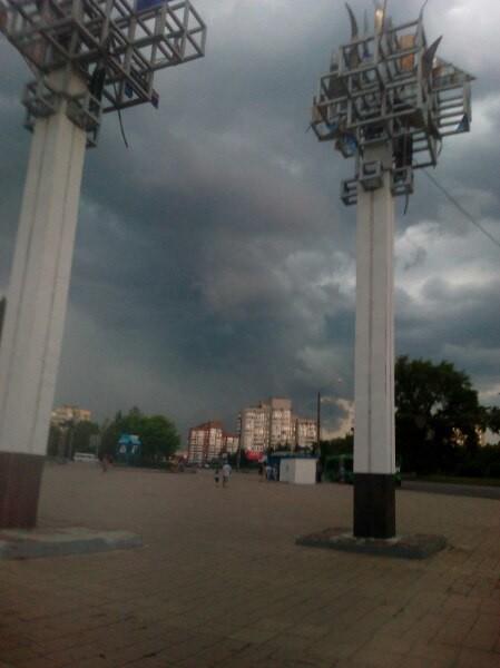 На Бобруйск кратковременно обрушилась непогода