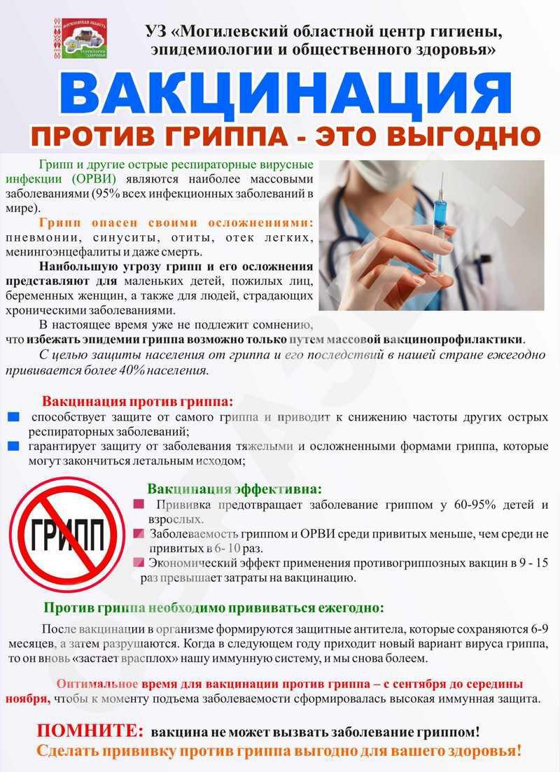 Картинки о вакцинации против гриппа