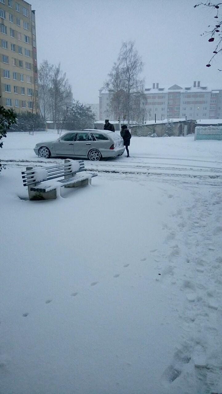 Вот и октябрь со снегом