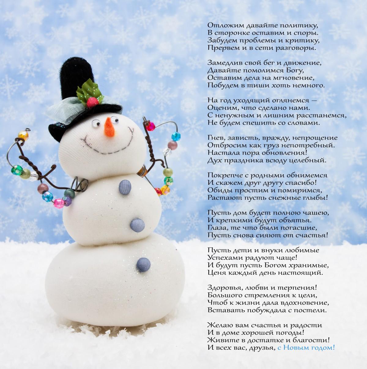 Новогоднее поздравление от бобруйской поэтессы.