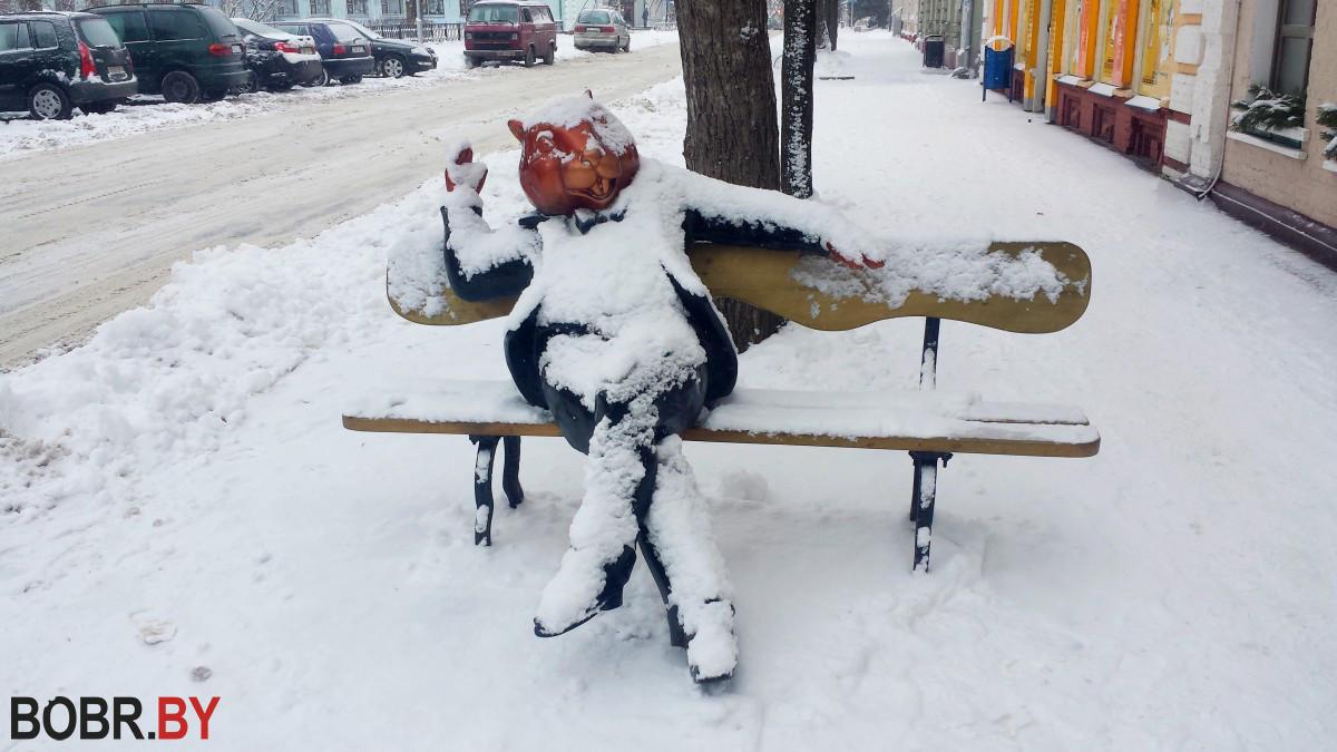 В Бобруйск приходит настоящая зима: за 4 часа температура упала на 9°С