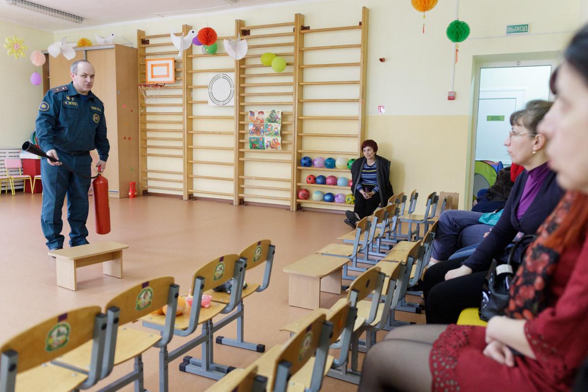 16 марта 2017 года работники Бобруйского горрайотдела по чрезвычайным ситуациям были приглашены в  ГУО «Ясли - сад №26 города Бобруйска».