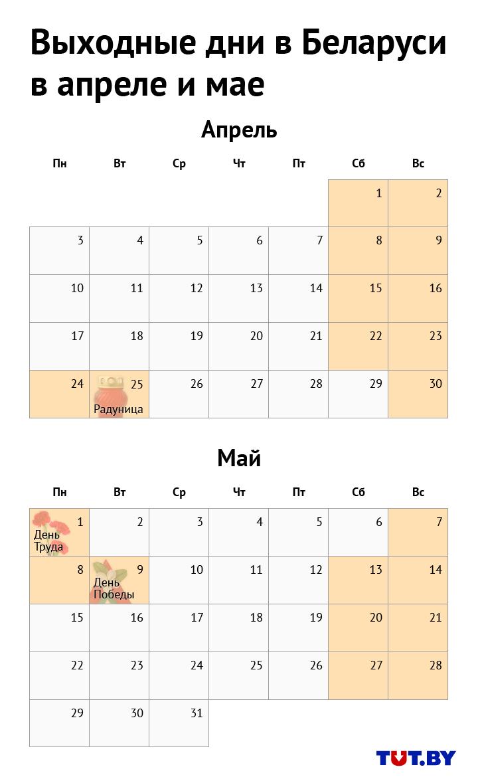 Белорусов ждут небольшие каникулы: как будем отдыхать и работать в апреле и мае