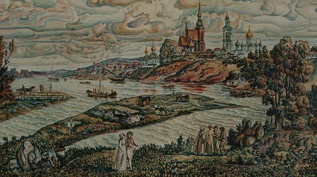 Абрамов Тихон. Вид Бобруйска до постройки крепости