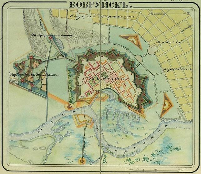 Карта-план Бобруйска, 1830 г.