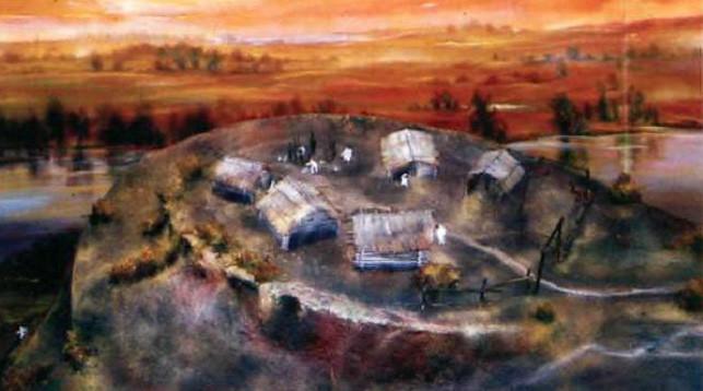 Реконструкция древнего поселения человека на месте современного Бобруйска