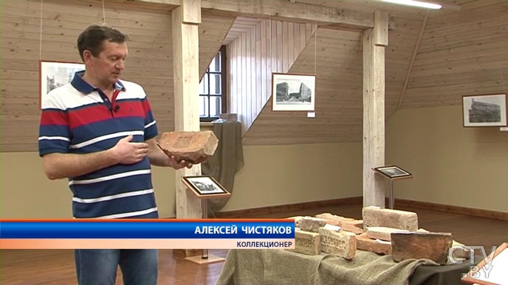 Самый древний экспонат – из XVI века: житель Лиды коллекционирует старинные кирпичи из разных стран