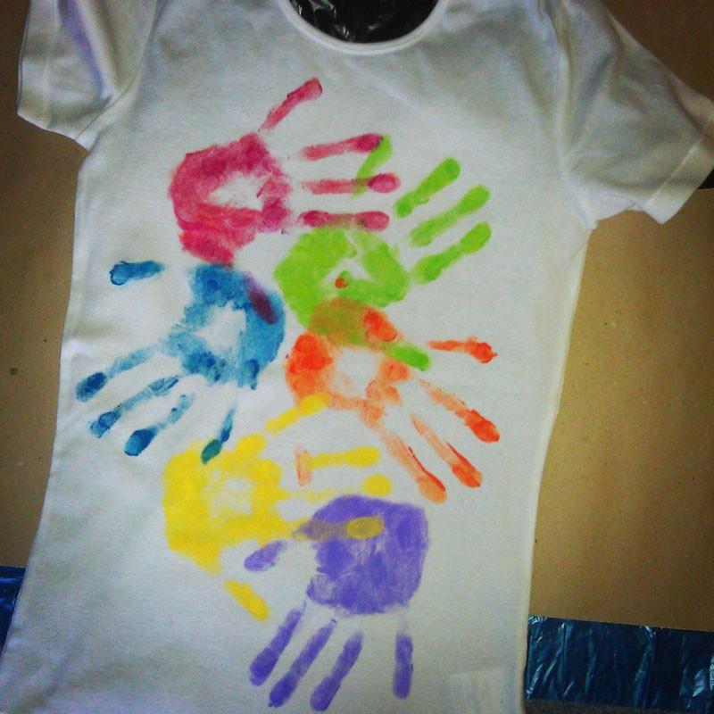Рисунки на футболке своими руками