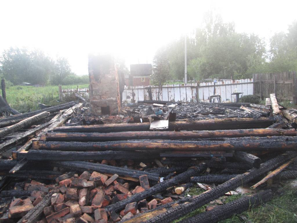 Ночью с 11 на 12 июля 2017 года поступило сообщение о пожаре в дачном доме на территории садового товарищества «Машиностроитель» Сычковского с/с.