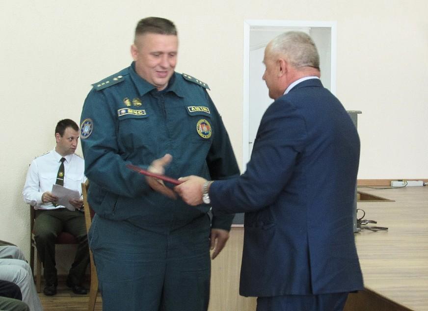 Наградили лучших работников Бобруйского горрайотдела по ЧС