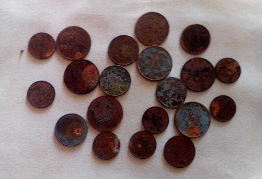 Фотофакт. Житель Горок постирал белорусские монеты, теперь их отказывается принимать банк