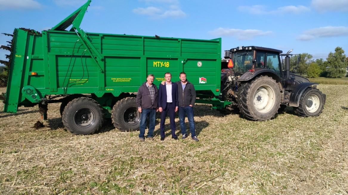 29 сентября 2017 года Торговая палата Эстонской Республики на базе фермерского хозяйства в районе г. Тарту провела сравнительные испытания машин для внесения твёрдых органических удобрений.