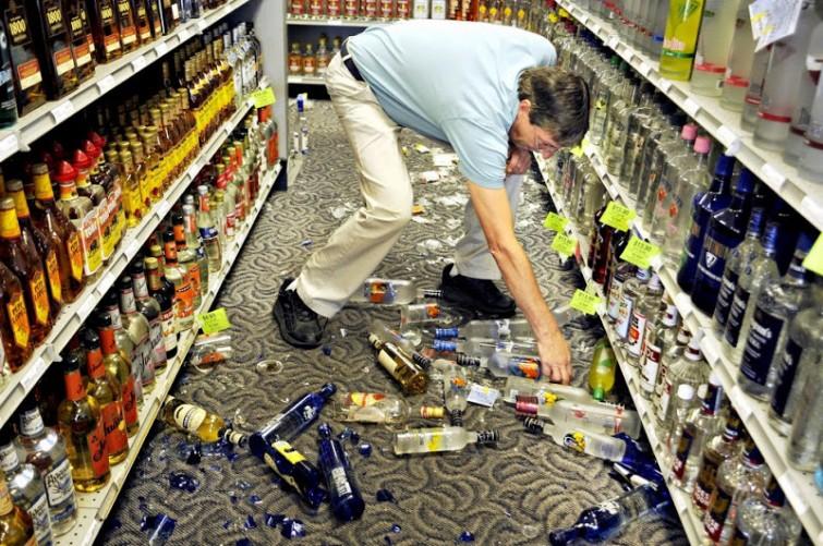В магазине случайно разбил бутылку. Инструкция по выживанию.