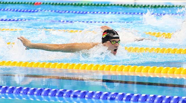 Пловец Игорь Бокий завоевал три золотые награды на ЧМ среди паралимпийцев в Мехико