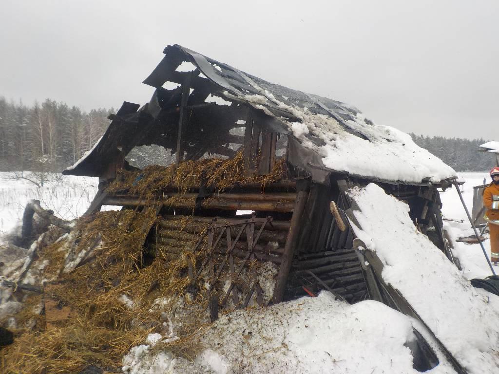Днем 11 февраля бобруйским спасателям от жителя деревни поступило сообщение о пожаре сарая по адресу: Бобруйский район, деревня Сычково.