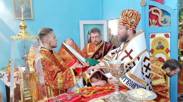 Престольный праздник и диаконская хиротония в Проще