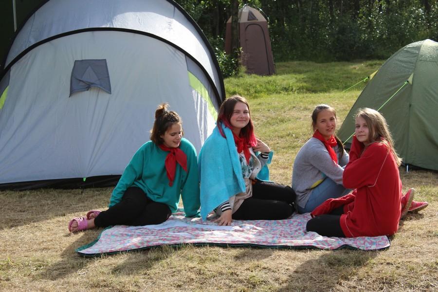 Первая смена передвижного палаточного лагеря «Турист» завершила свою работу