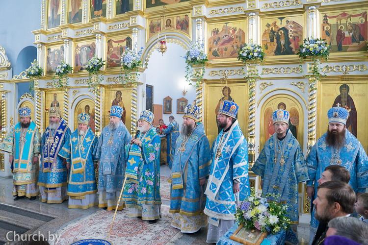 Преосвященнейший Серафим,епископ Бобруйский и Быховский, принял участие в торжествах, посвященным Сукневичской иконе Божией Матери