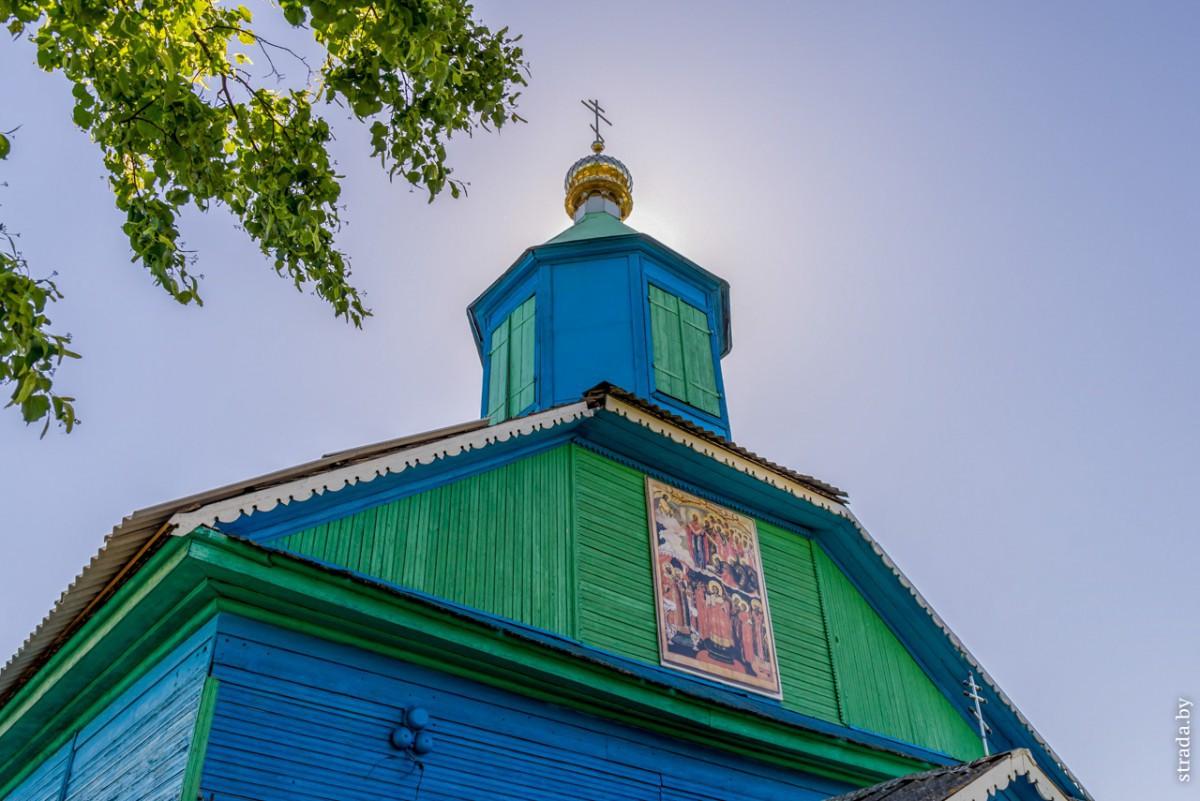 Церкви: старообрядческая Покровская, св. Космы и Дамиана и дом Алеся Адамовича