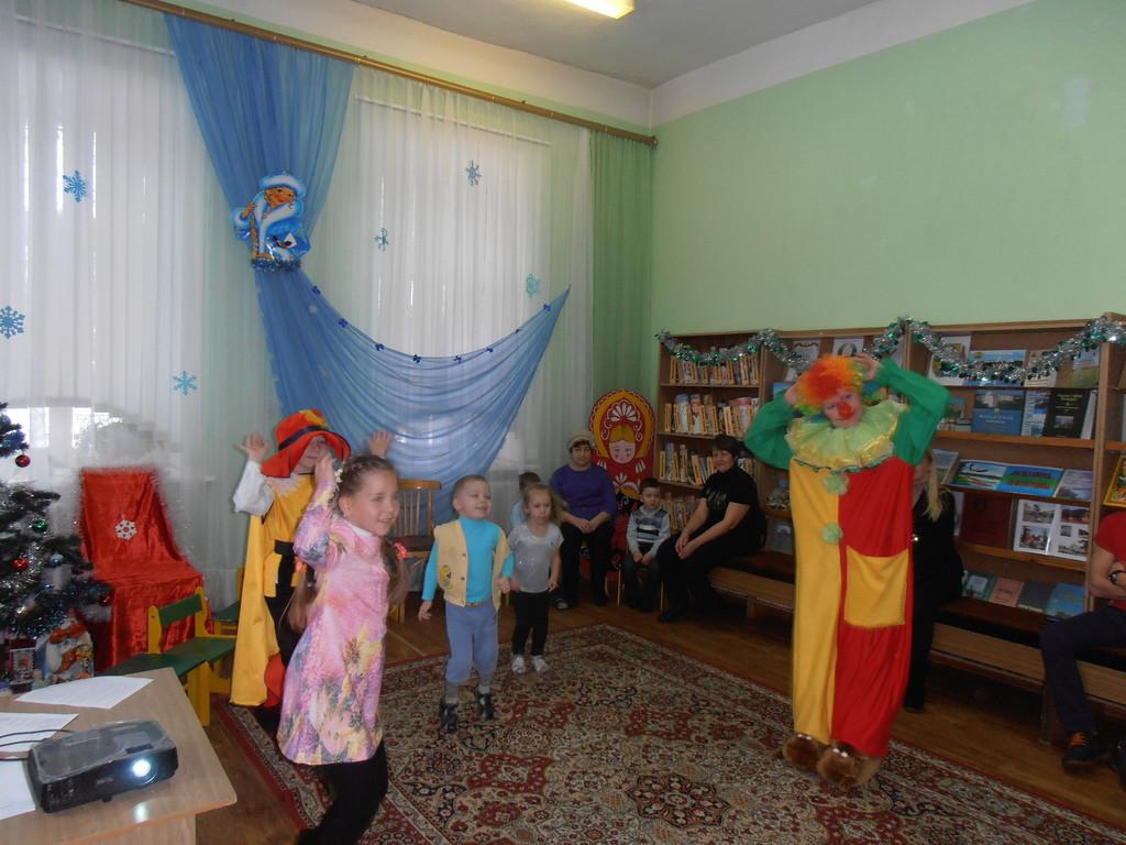 Новогодняя игротека с клоуном Клёпой