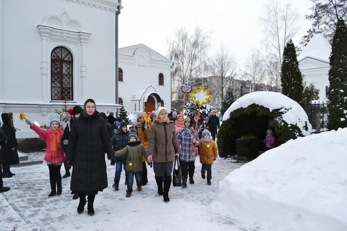 Рождественский городок в воскресной школе