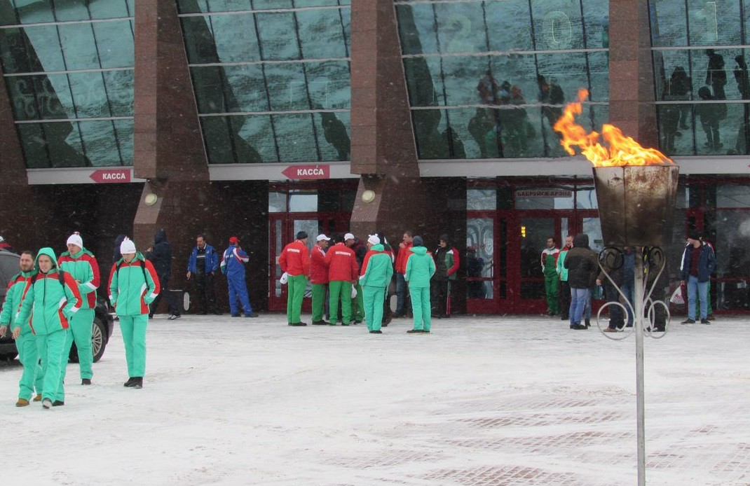 Зимний спортивный праздник работников АПК проходит в Бобруйске