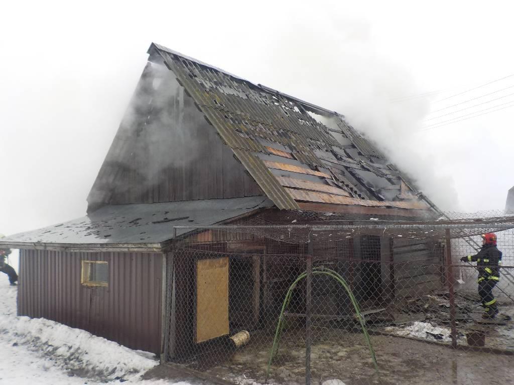 Горел сарай в деревне Токари