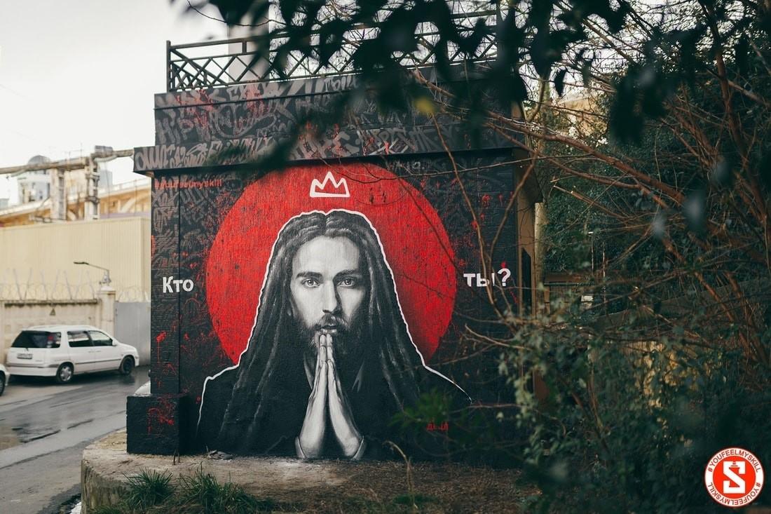 В Сочи появилось граффити в память о Децле. Его авторы — белорусы