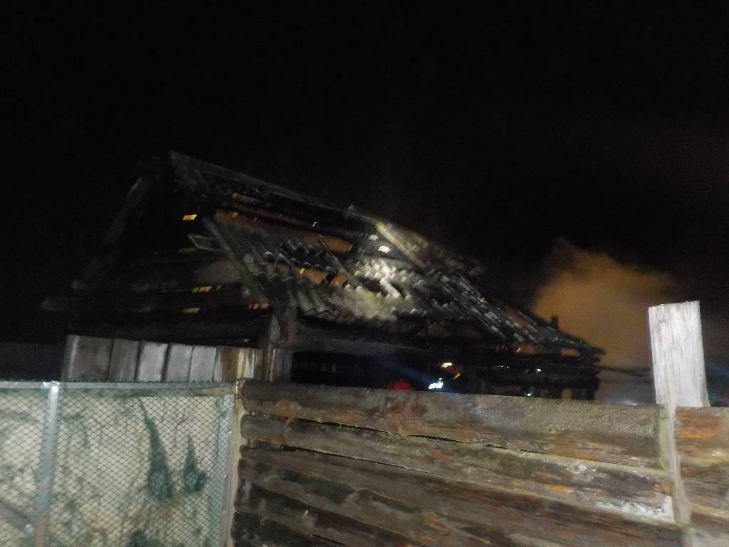Пожар в Ленино