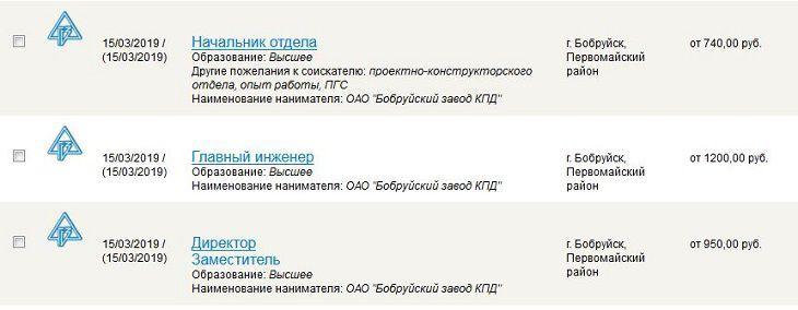 Бобруйску нужны работники. Зарплата – от 330 рублей