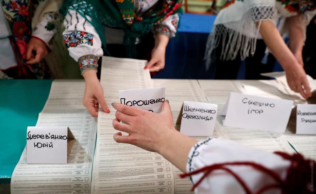 ЦИК о промежуточных итогах: страна голосует за Зеленского, украинцы зарубежья — за Порошенко