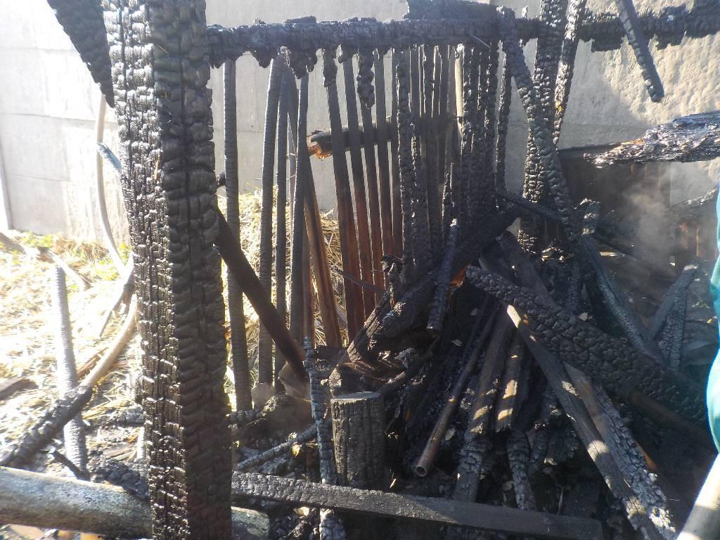 Сгорел сарай на улице Кима