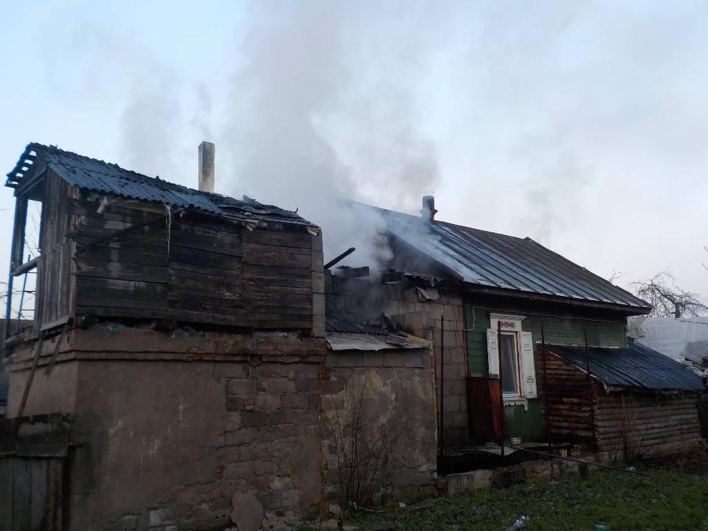 Ночной пожар в Бобруйске