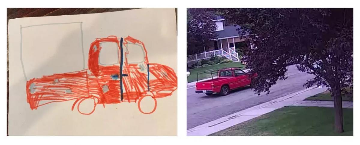 Полиция нашла преступников благодаря ребенку, нарисовавшему их автомобиль
