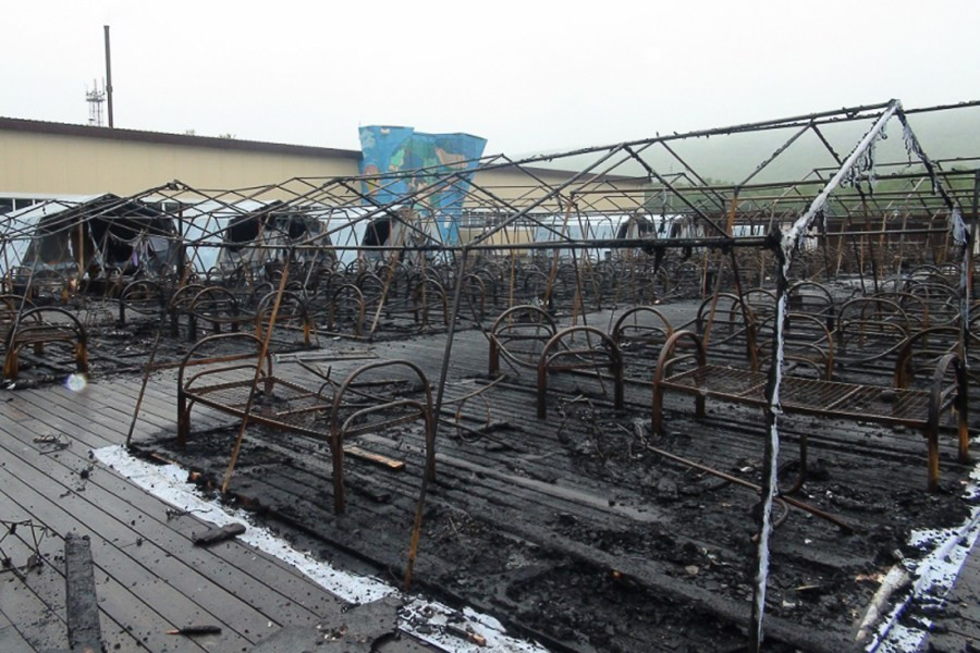 В детском лагере Хабаровского края произошел пожар