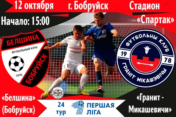 Матч между командами ФК «Белшина» и «Гранит»